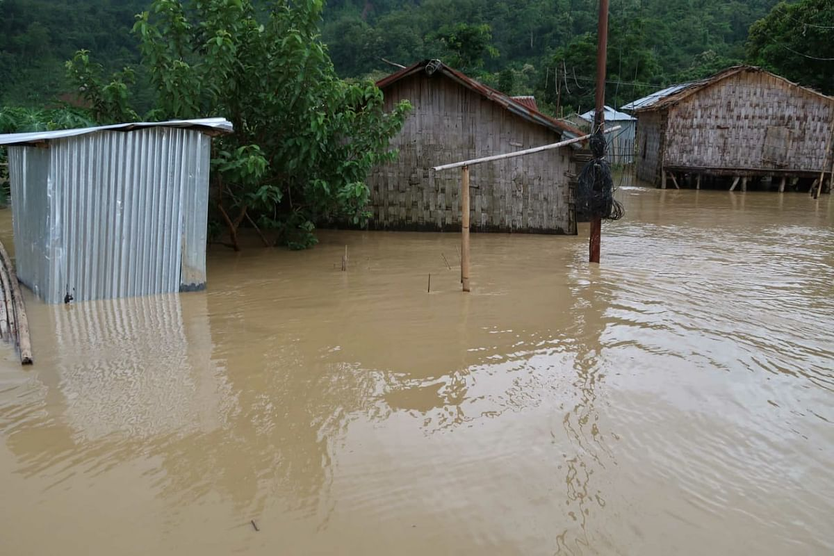 A source said, water level is continuously rising due to continuous downpour and more house are likely to be submerged