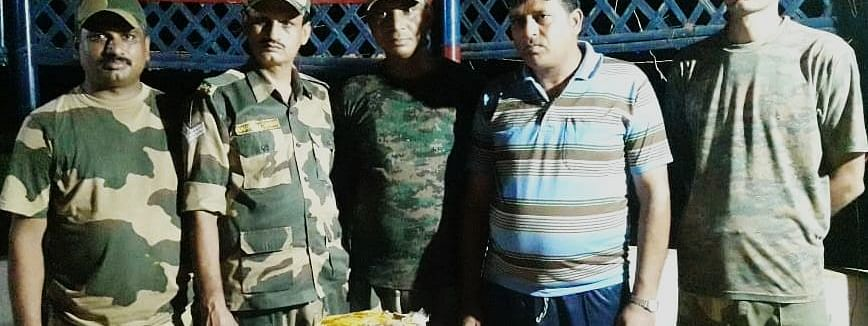 BSF recovered one small plastic bag containing 9,700 Yaba tablets worth Rs 48,50,000 near Srimantapur BOP of Tripura's Sepahijala district