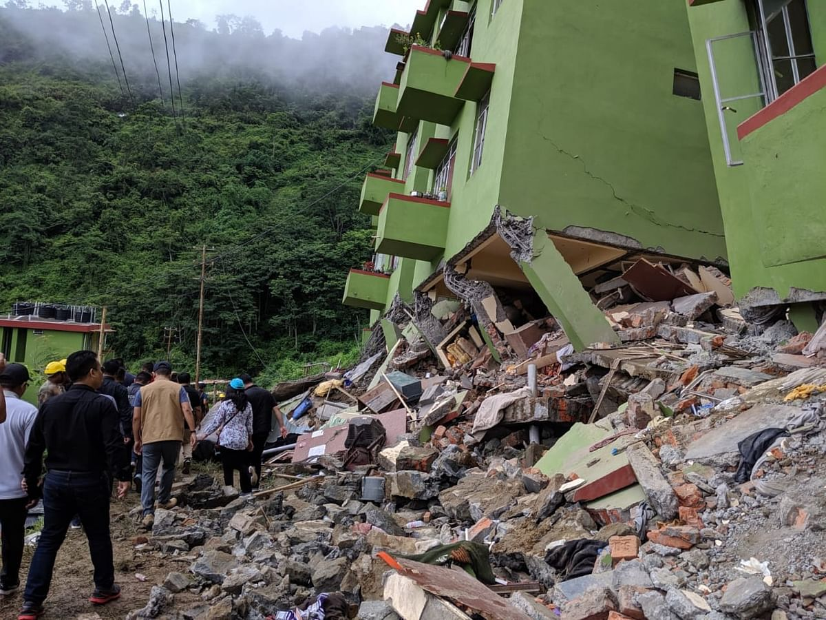 V Lalrinkimi lost her mother in the building collapse that happened at Durtlang Leitang near Aizawl, Mizoram on Tuesday evening