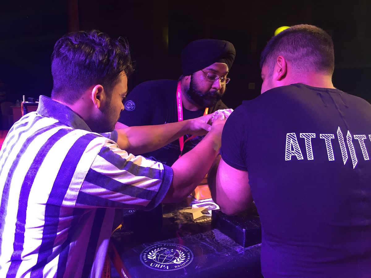 Armwrestling is a very old sport but we don't get much recognition from the government, said Monoj Leen Debnath