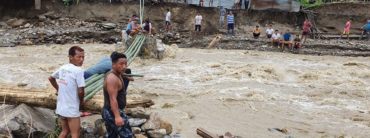 The Kameng, Bichom, Pappu and Pakke rivers and its tributaries in Arunachal Pradesh are in spate due to heavy rainfall in the past few days