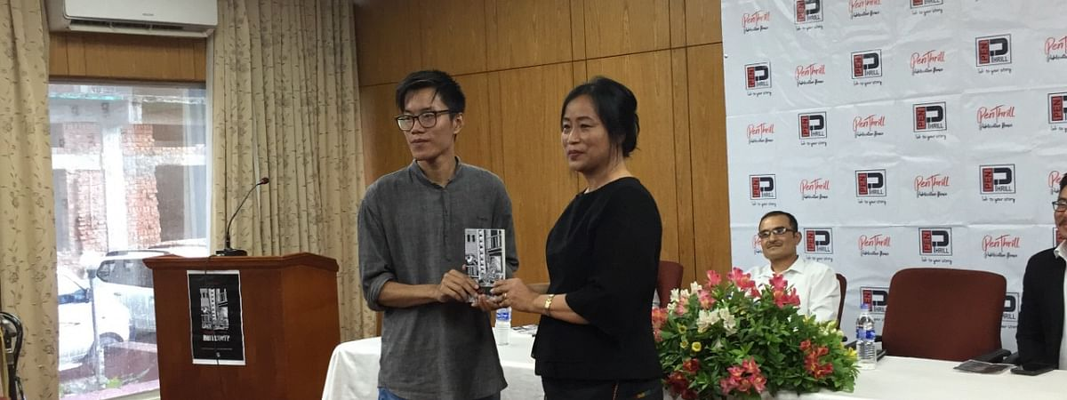 Ovungthung Jungio (left) with Kohima Science College principal Lily Sema, who was the special guest during the book launch at Hotel Japfu in Kohima on Thursday