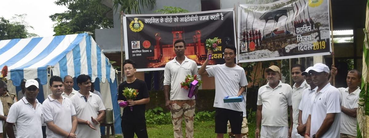 Winners of the 'Run for Martyrs' marathon organised by the ITBP in Arunachal Pradesh
