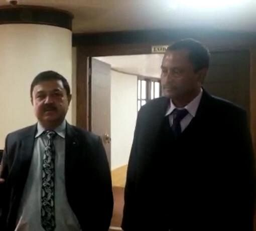 MLAs GT Dhungel of Upper Tadong and Em Prasad Sharma of Namcheybong on the second day of the Budget session in Sikkim Legislative Assembly on Tuesday