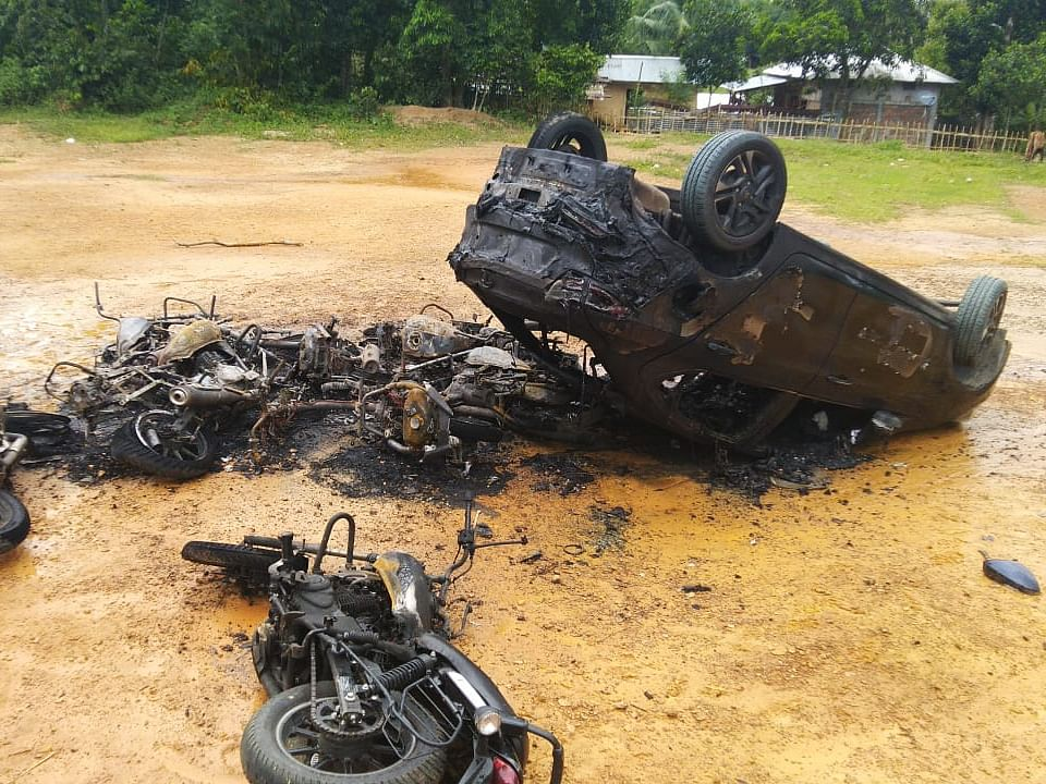 Tripura: 2 cars, 22 bikes burnt amid BJP-CPI(M) clash; 4 hurt