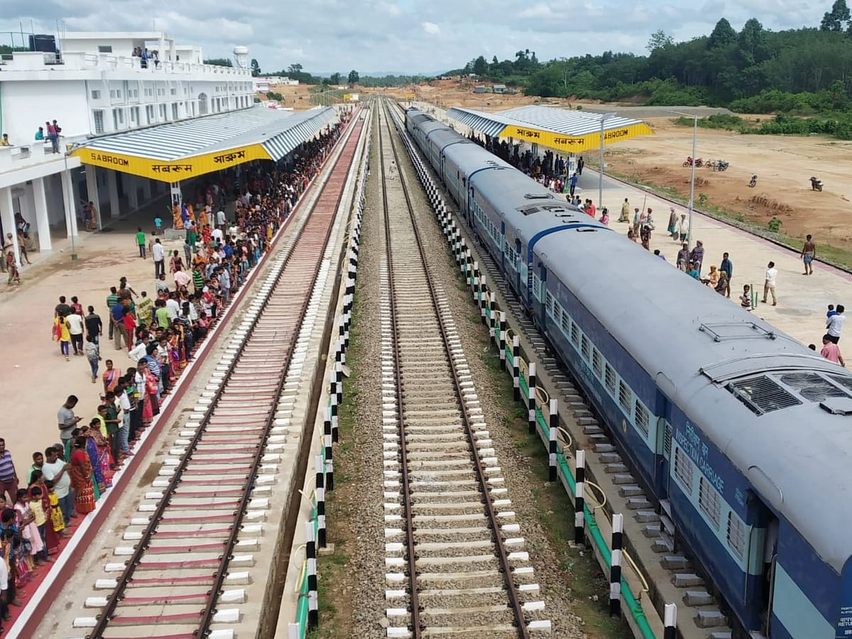 Rly service to Sabroom, Tripura's southernmost part, to start soon