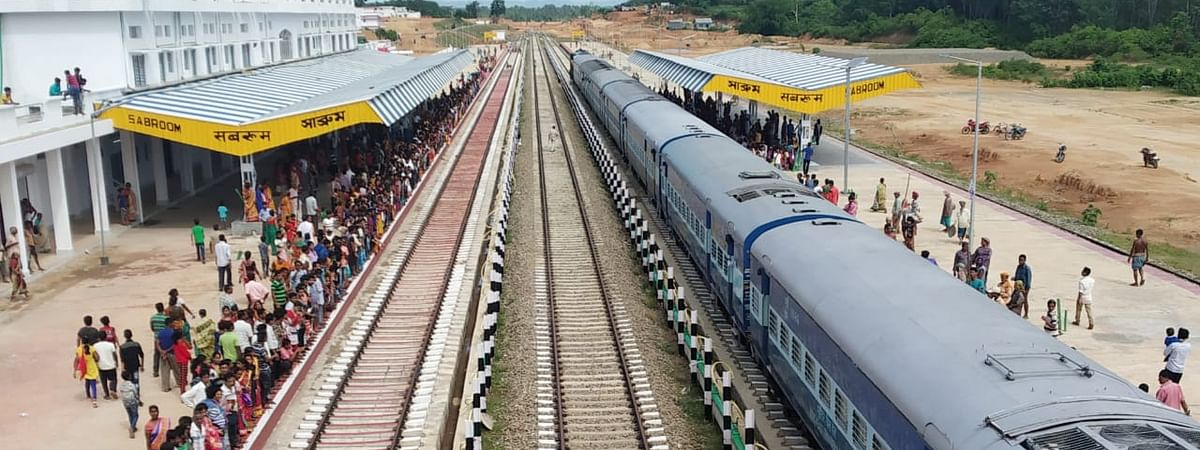 Sabroom railway station is situated in the southernmost part of Tripura