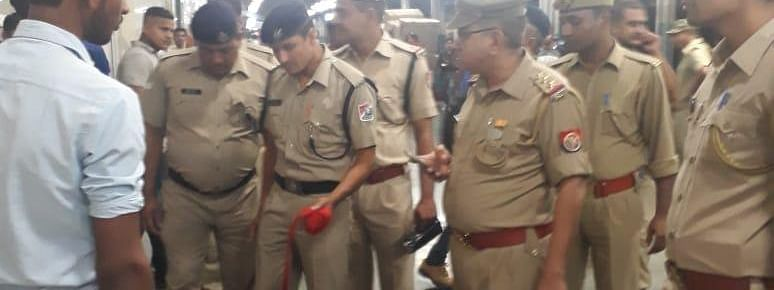 RPF personnel conducting a routine check at a railway station