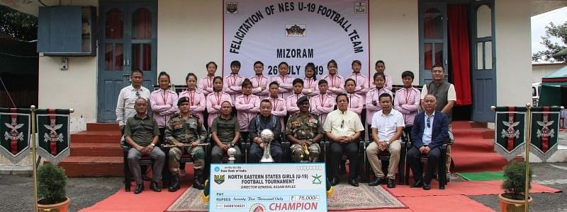 The winning Mizoram team was felicitated in Aizawl on Friday