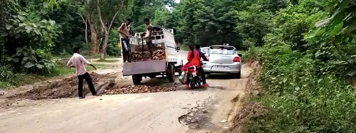 Many accidents have been reported on the Diphu-Manja road in Assam's Karbi Anglong district in the recent past