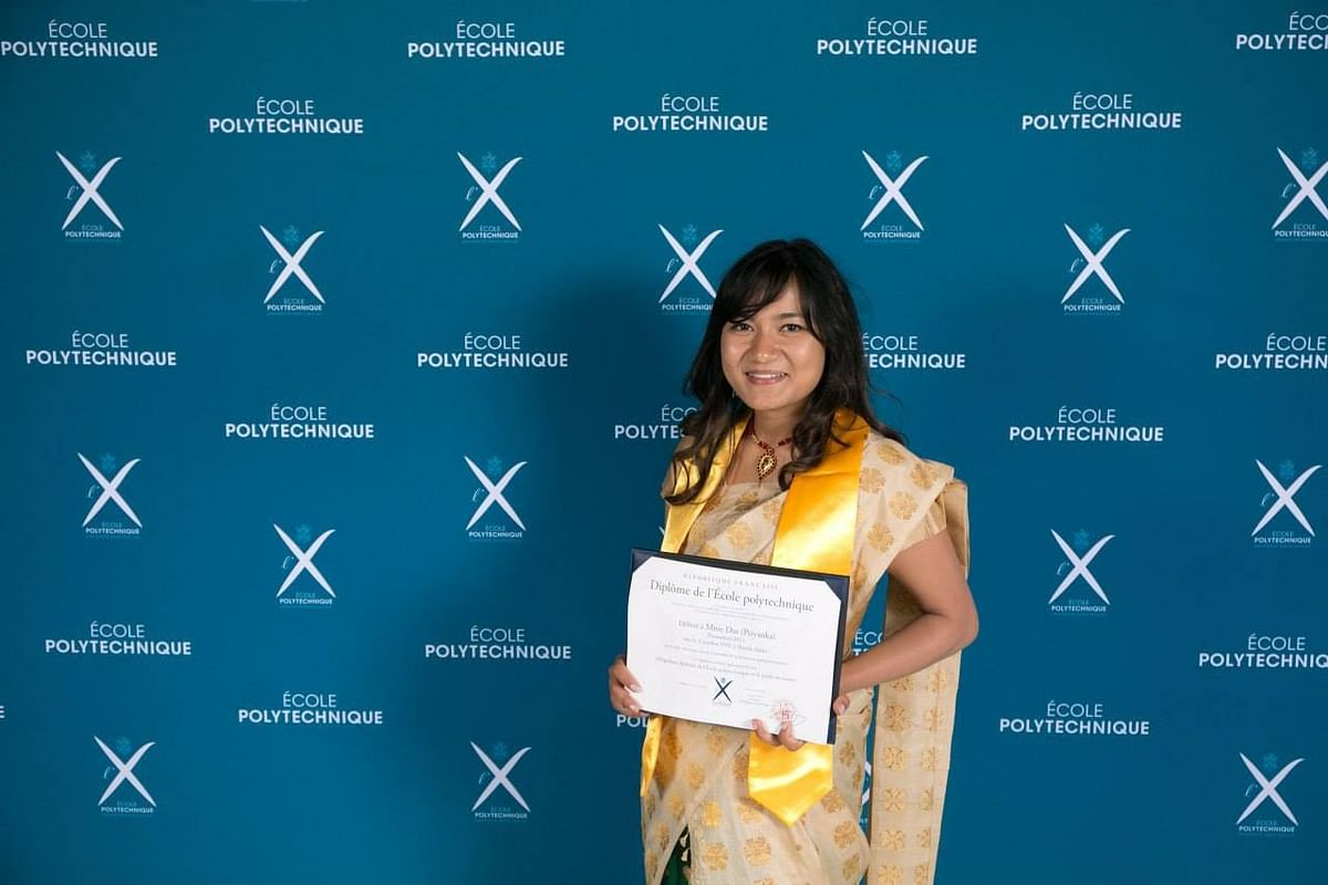 Priyanka Das, during her graduation from École Polytechnique in Paris