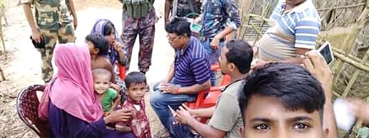 The BSF seized biscuits and cold drinks from the possession of the 12 Rohingya Muslims, which were manufactured in Bangladesh