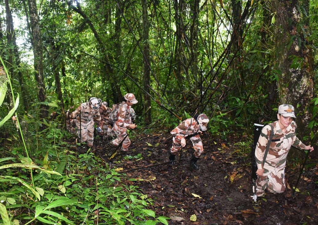 ITBP's women personnel patrolling a strategically important pass along India-China border in Arunachal Pradesh