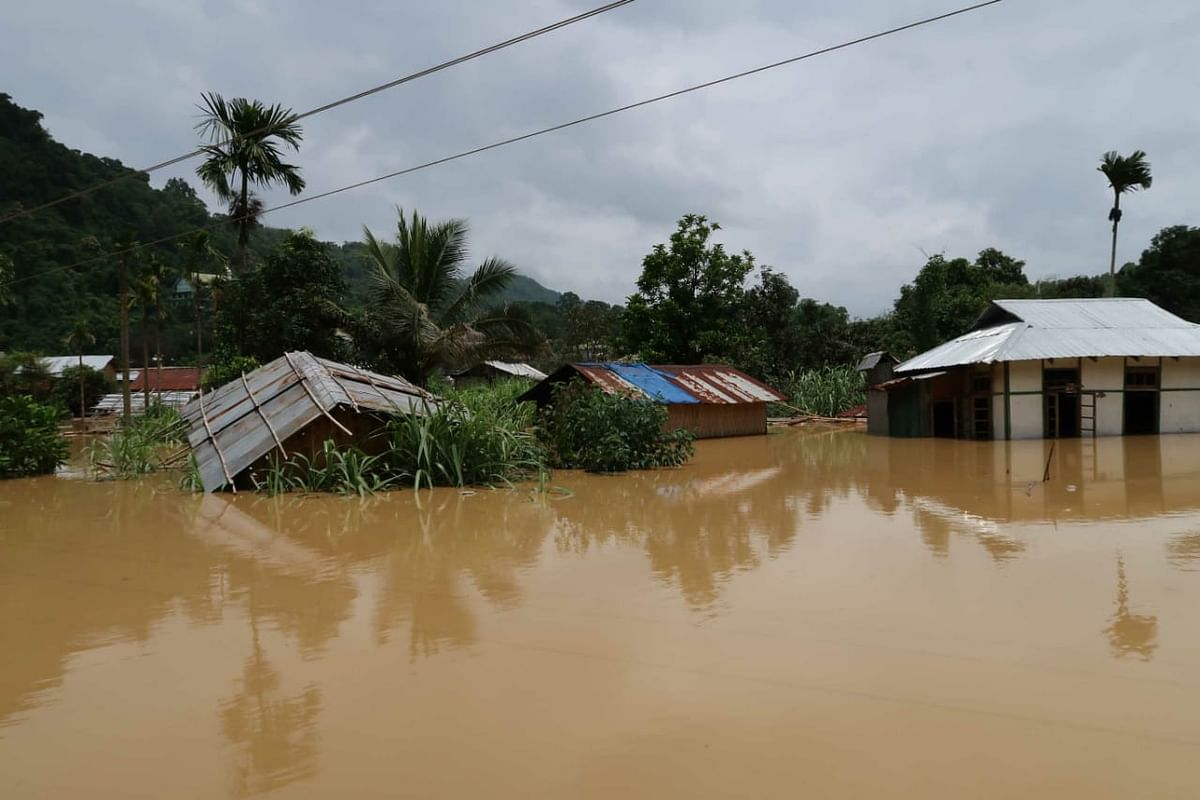 Over 300 families have been evacuated to safer places due to flooding of Khawthlangtuipui river