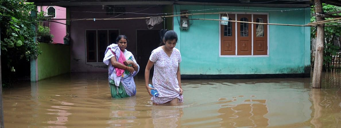 More than 1,100 villages and 46,000 hectares of crop across assam have   been submerged in flood