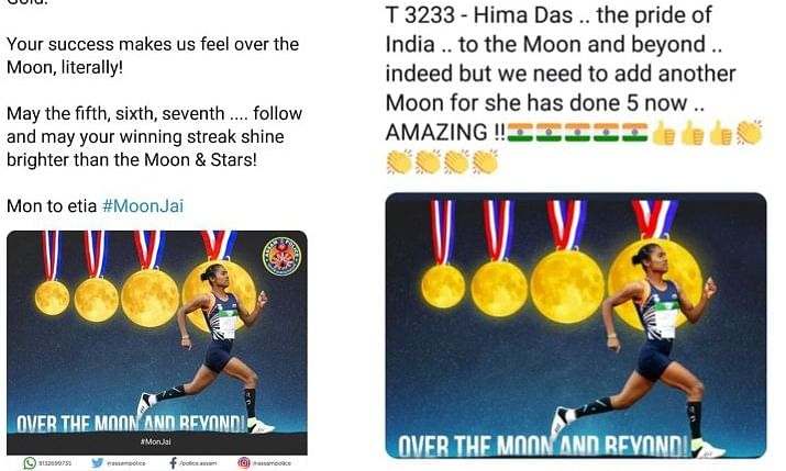 Did Amitabh Bachchan use 'borrowed' graphic to laud Hima Das?