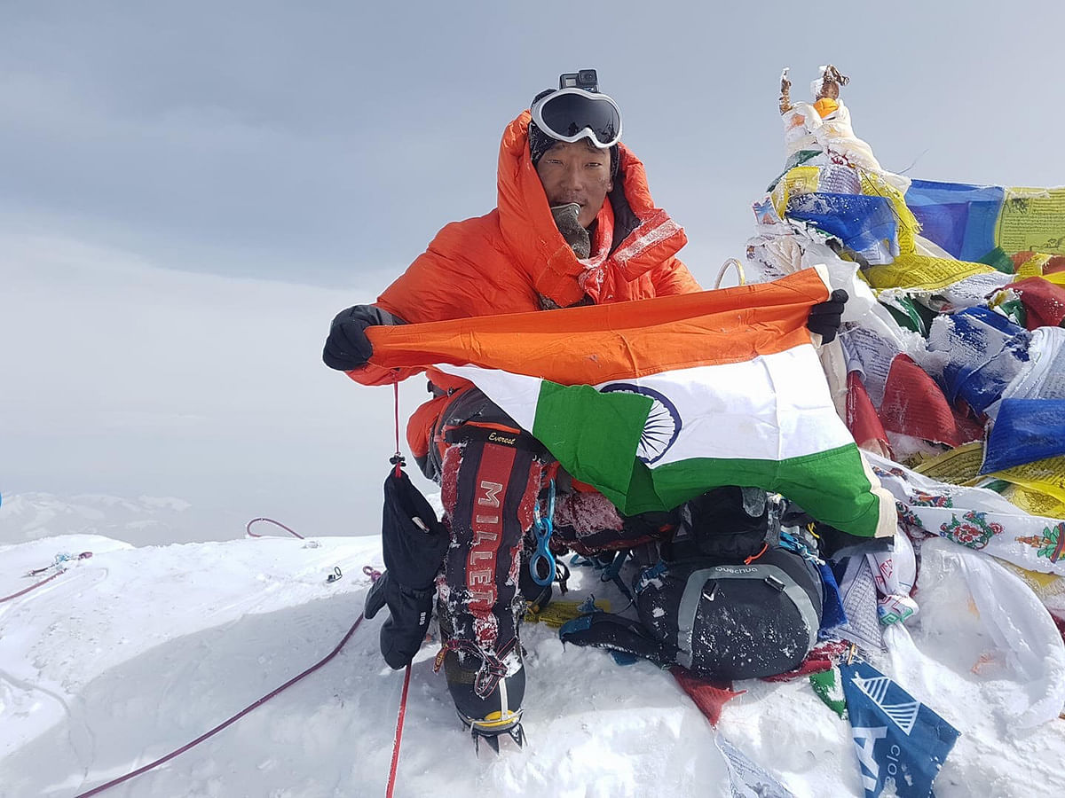 Taka Tamut after scaling Mt Everest in May last year