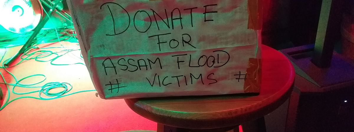 Donation box placed for voluntary contribution at Dine Way Platz in Guwahati