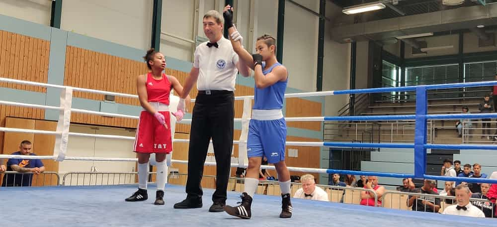 Indian junior boxer Kh Anju Devi won the gold medal at Black Forest Cup in Germany after knocking out her opponent Fatima of Germany 5-0