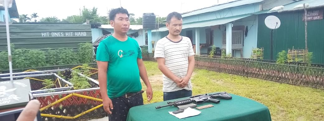 The arrested NSCN-K rebels in custody of security forces