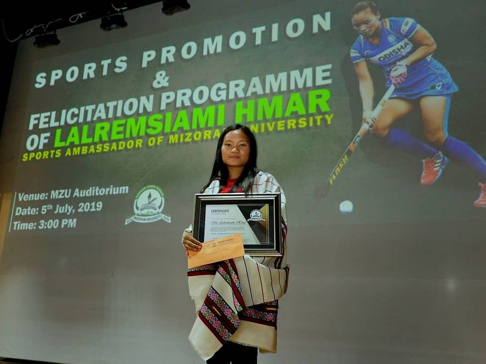 Lalremsiami named sports ambassador of Mizoram University