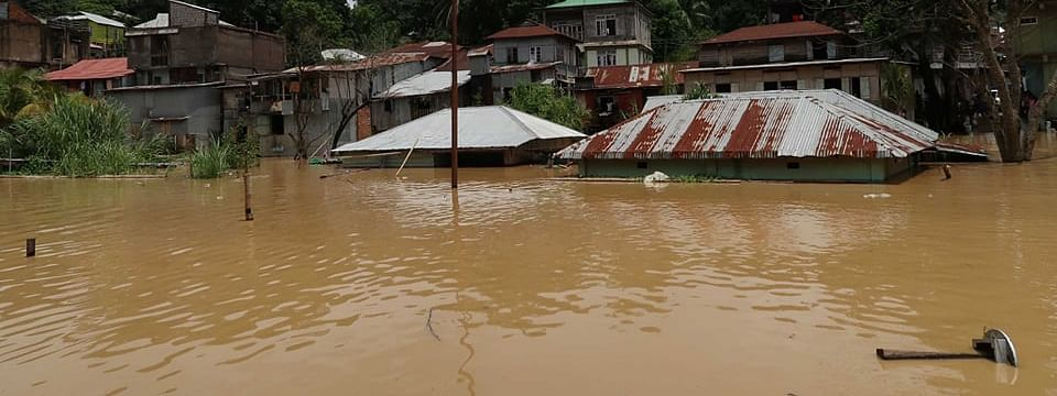 Over 150 families have been evacuated to safer places after Tlabung town in Lunglei district of Mizoram came under flood waters