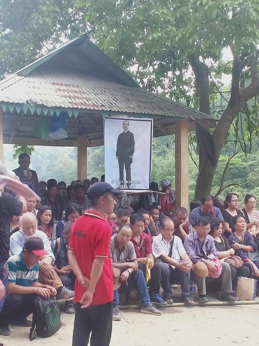 A function was held to mark the end of the customary search for drowning victim C Lalfakzuala in Sairang, Mizoram