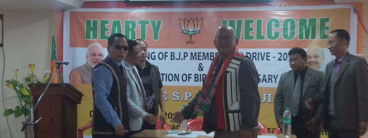 Former Mizoram deputy controller of mines Lalhriatrenga Chhangte formally joined the BJP on Friday