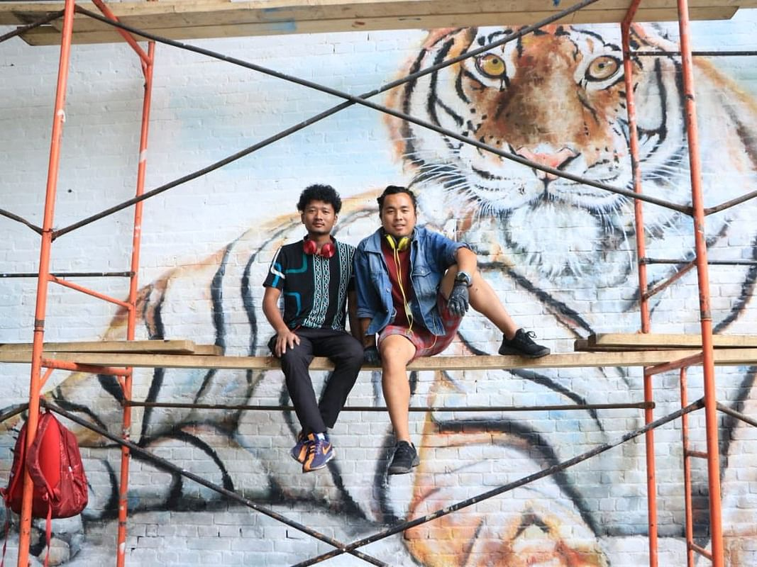 Meet the Naga artists who painted a mural at V-Rox fest in Russia