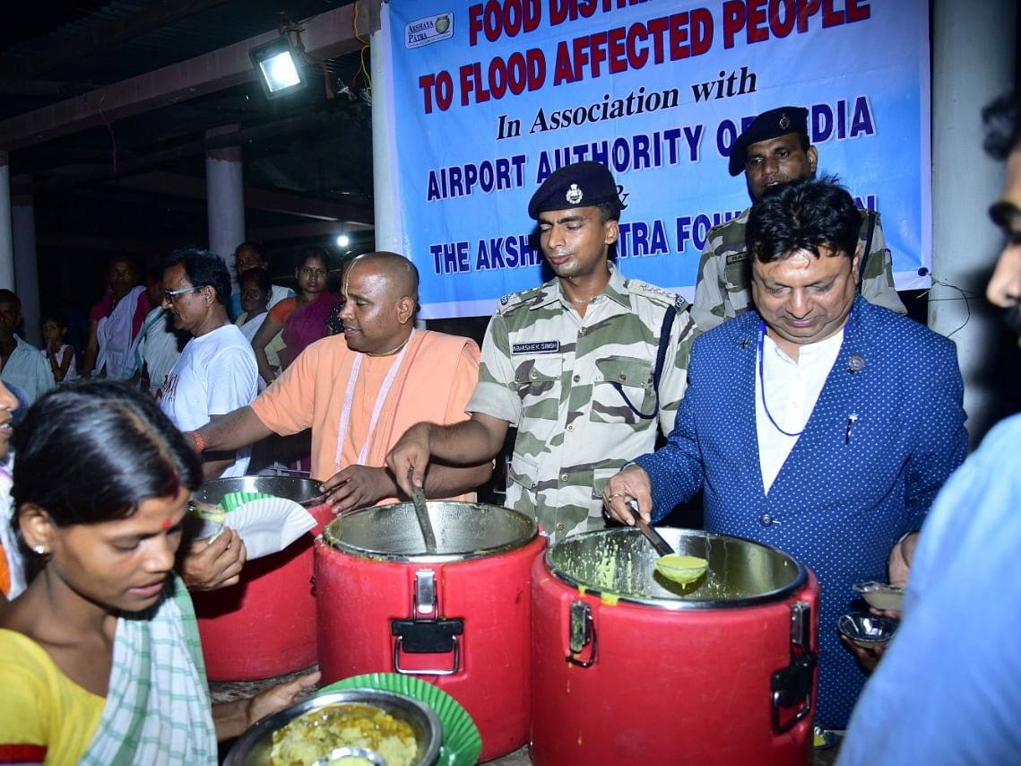 Assam floods: Airport employees join relief efforts in state