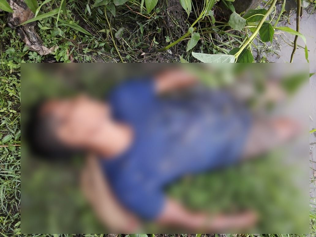 SDRF personnel and local residents conducting search operations for the missing woman in Dolamara area of Assam's Karbi Anglong district