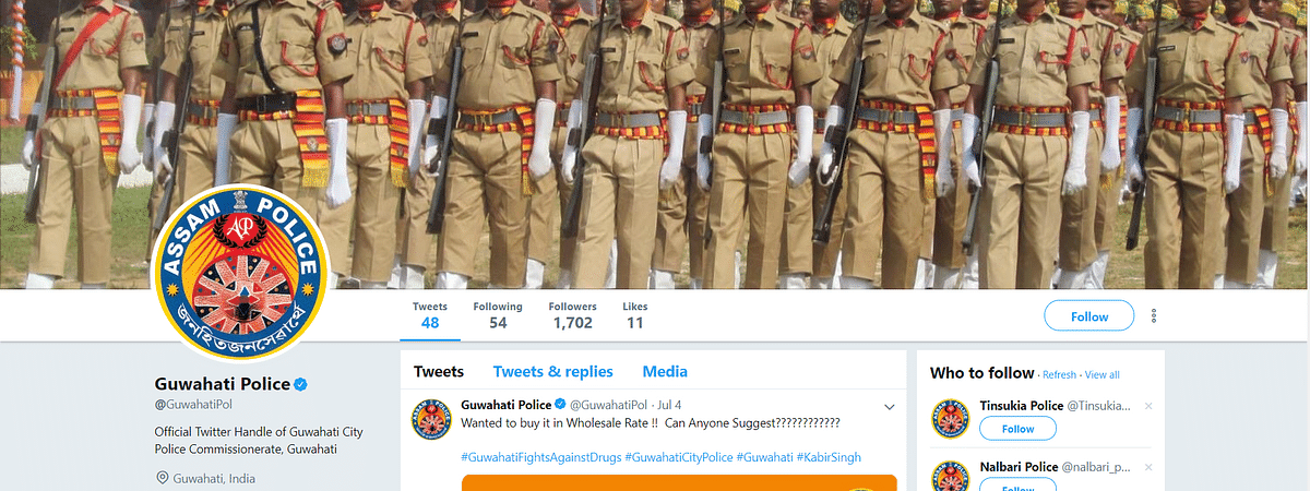 The Assam Police is 'slaying' it on Twitter with its witty social media posts