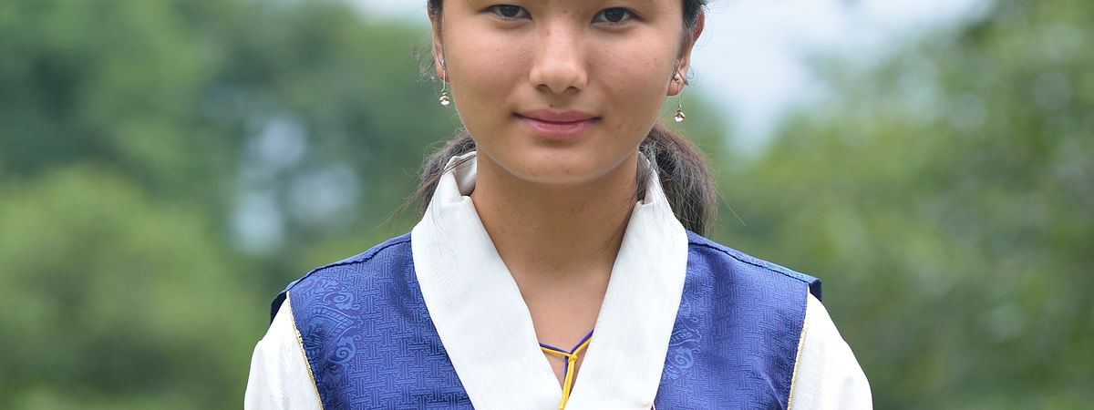 Yangchen Doma Tamang in traditional Sikkimese attire
