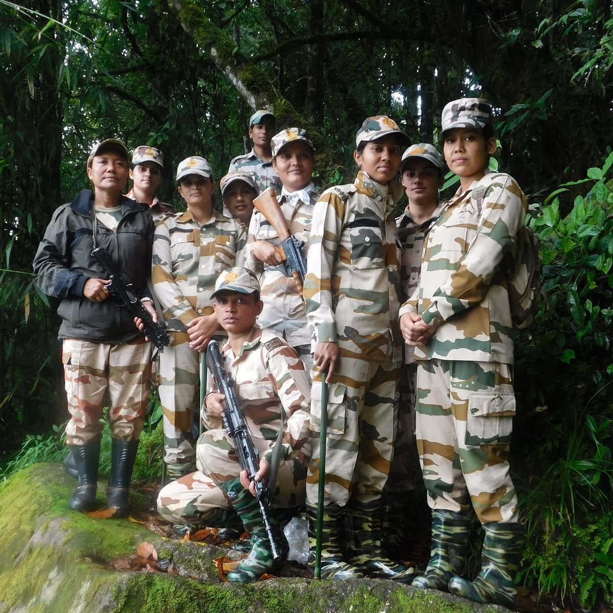 ITBP's special 'mahila' patrol led by assistant commandant Bhanita Timungpi along the India-China border in Arunachal Pradesh recently