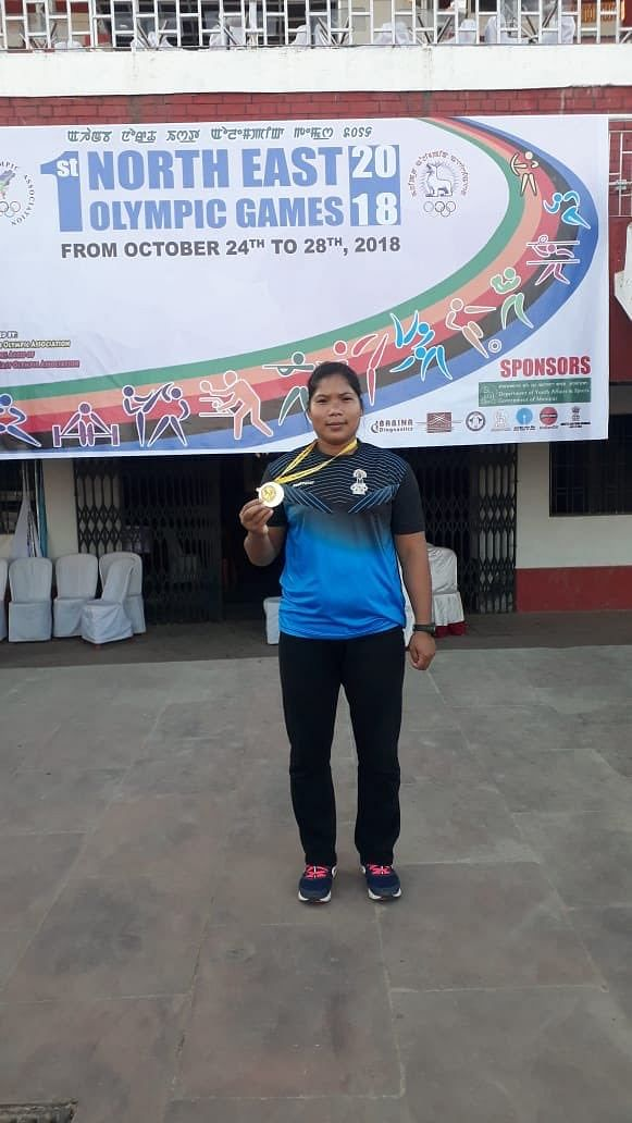 Tunlai Narzary won a gold at the 1st North East Olympic Games held in Manipur last year