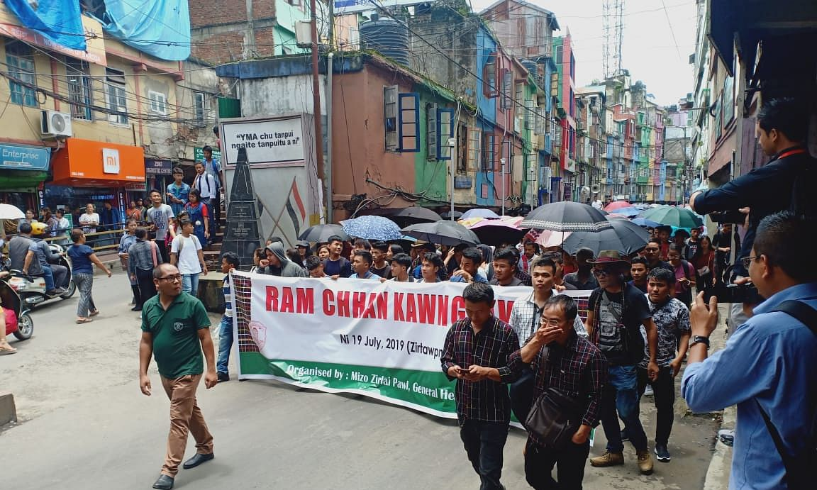 When students of Mizoram came out to protect state's borders