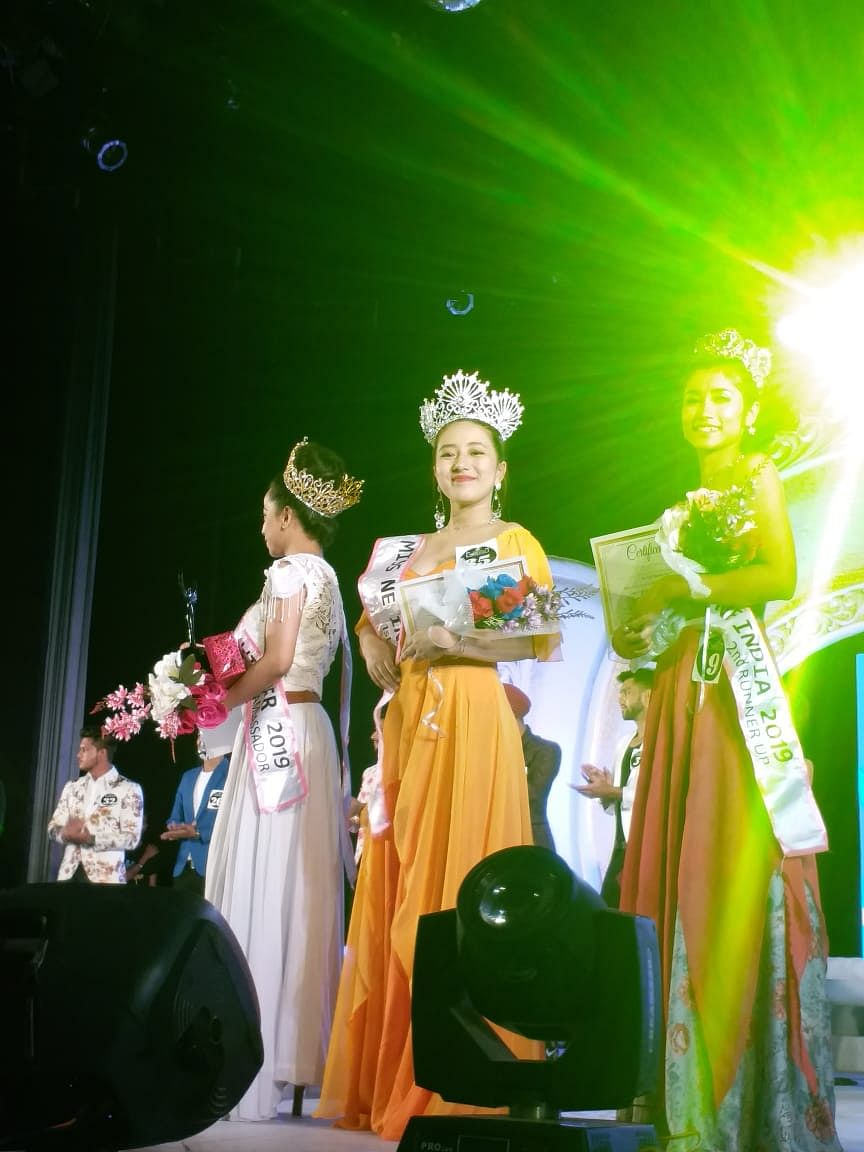 Chanchui Khayi along with other winners of Miss Northeast India 2019 in Guwahati, Assam recently