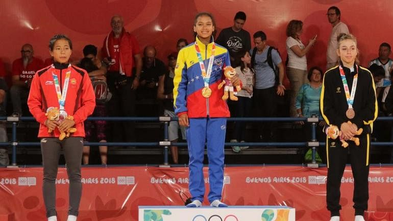 Manipur's Thangjam Tababi Devi (left) became India's first judo athlete to win a Olympic medal at Youth Olympics 2018 in Buenos Aires, Argentina