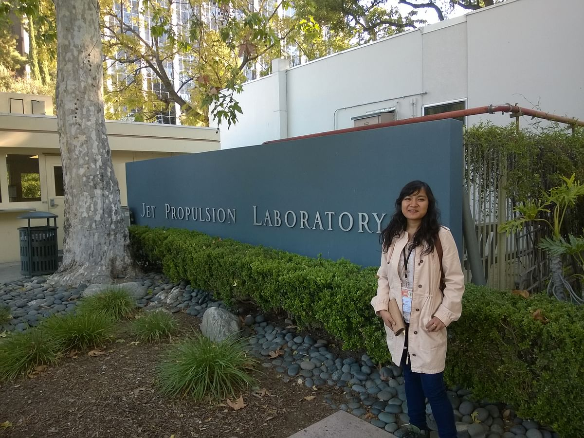 Priyanka Das during her visit to the NASA Jet Propulsion Laboratory