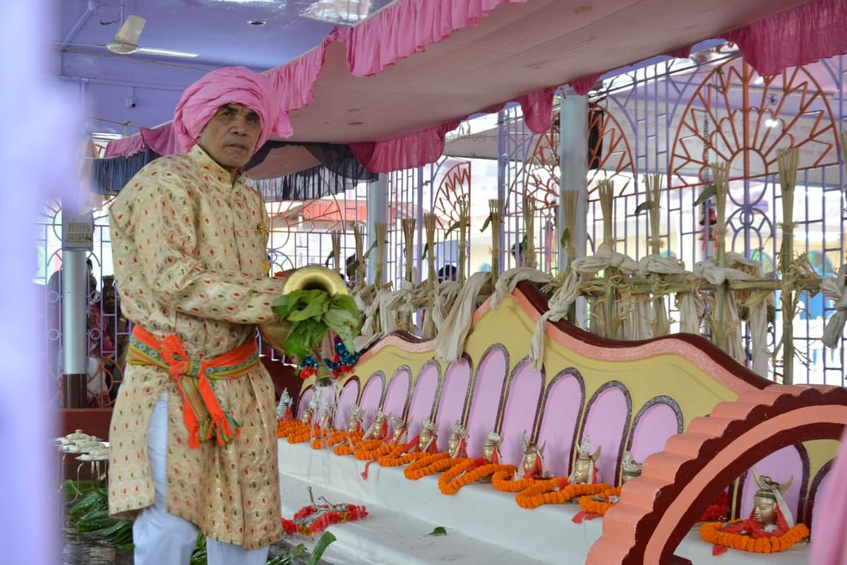 The week-long Kharchi Puja mela began on Wednesday