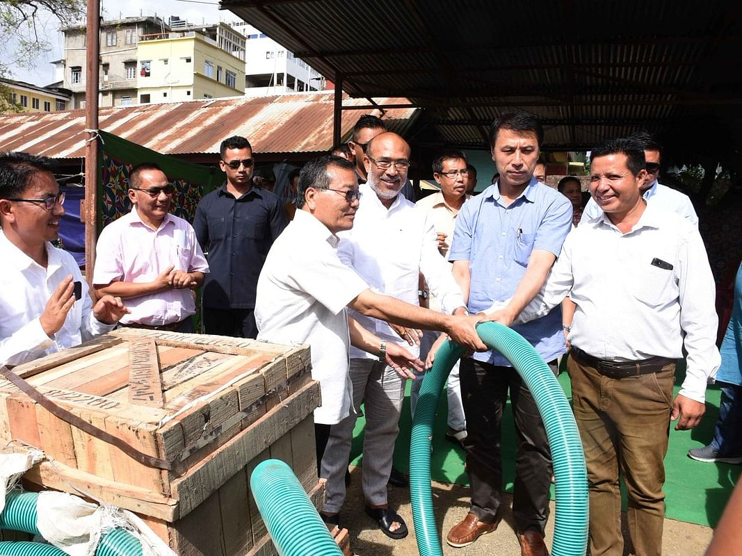Water crisis in Manipur: CM distributes pump sets to farmers