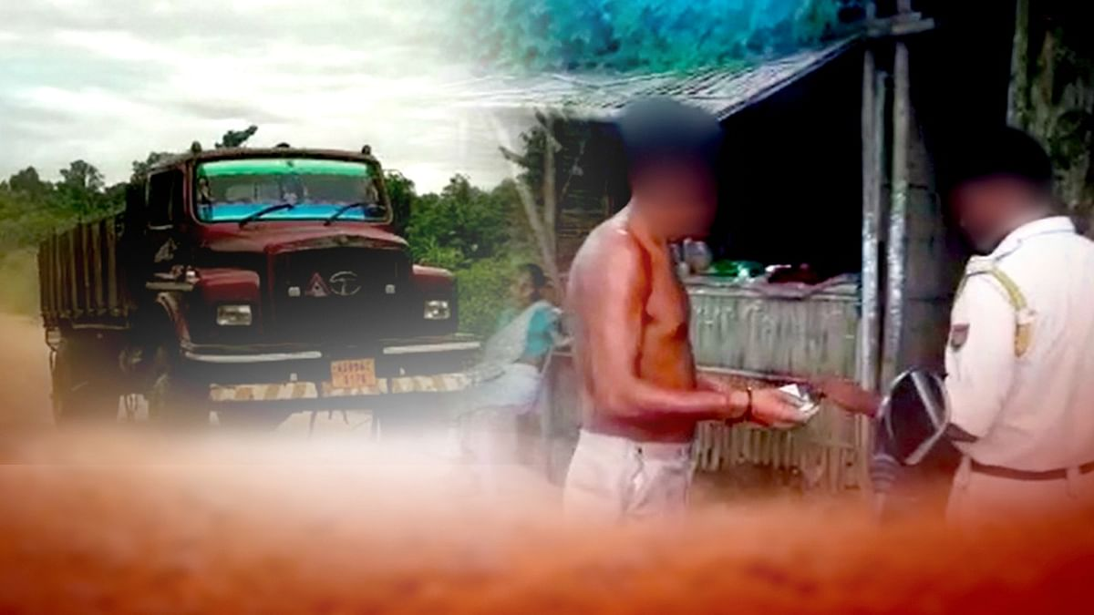 Assam: Cops caught red-handed taking bribe for illegal sand mining