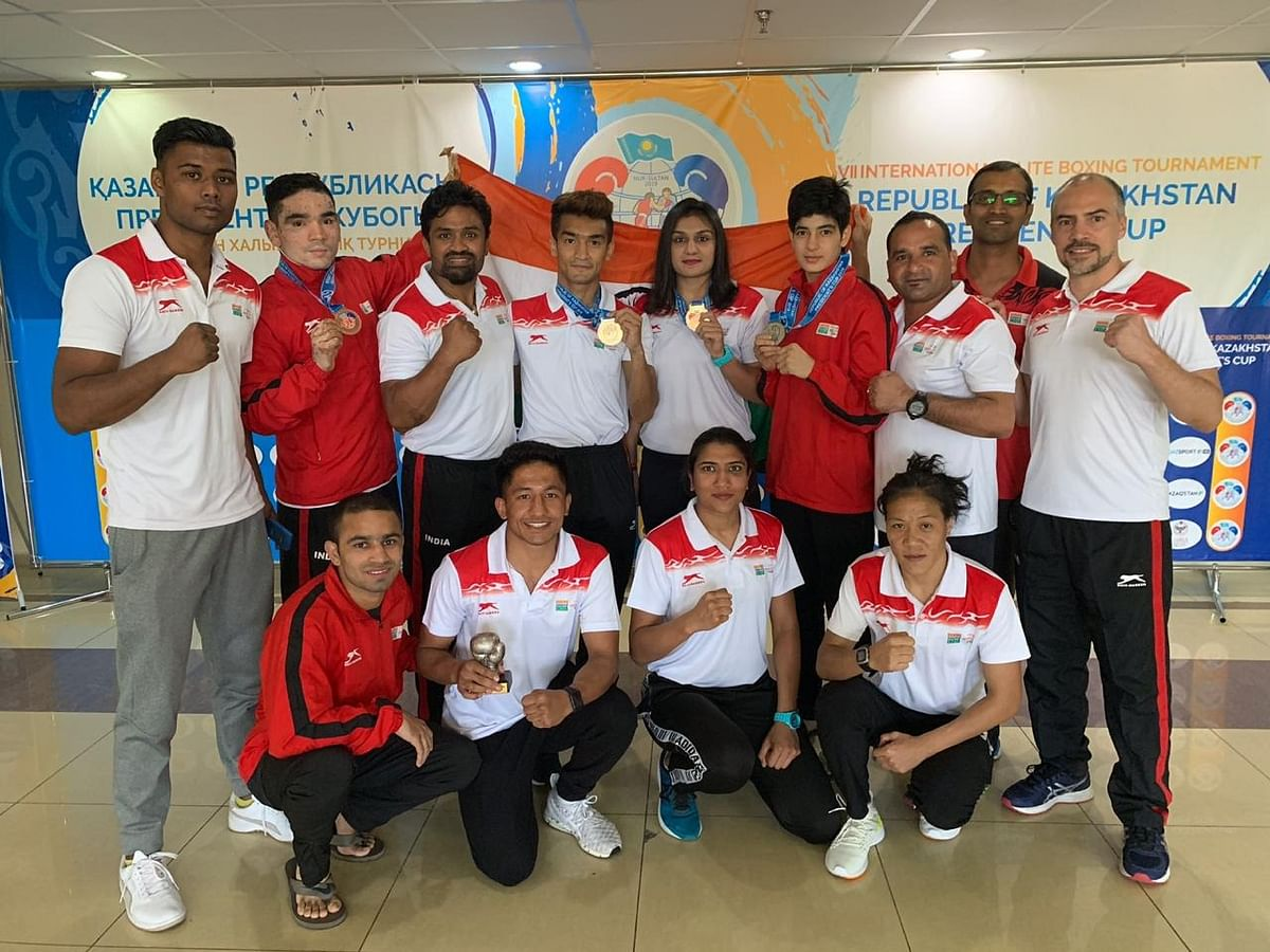 Indian boxers finished their campaign on a high with one gold, one silver and two bronze medals at the VII Republic of Kazakhstan President's Cup 2019 in Nur-Sultan, Kazakhstan