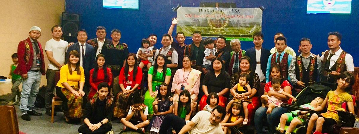 Manipur minister Nemcha Kipgen along with members of the Thadou Nampi diaspora in the US