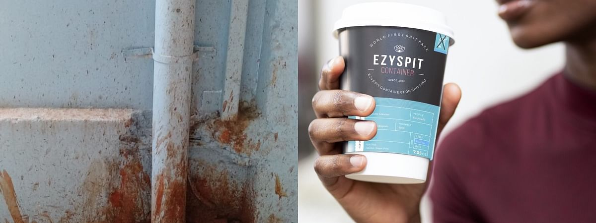 EzySpit is aneconomically and handy way to curb spitting in public places