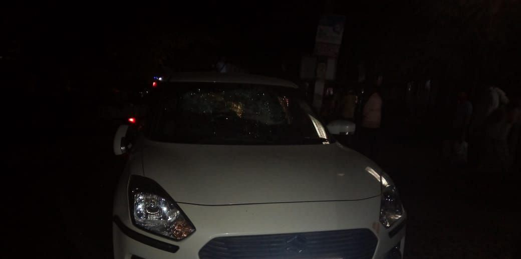The Swift Dzire that was involved in the accident with a bike on July 3
