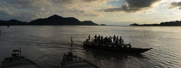 Boat and ferry services have been suspended in Kamrup (M) district due to the increasing water level of Brahmaputra river