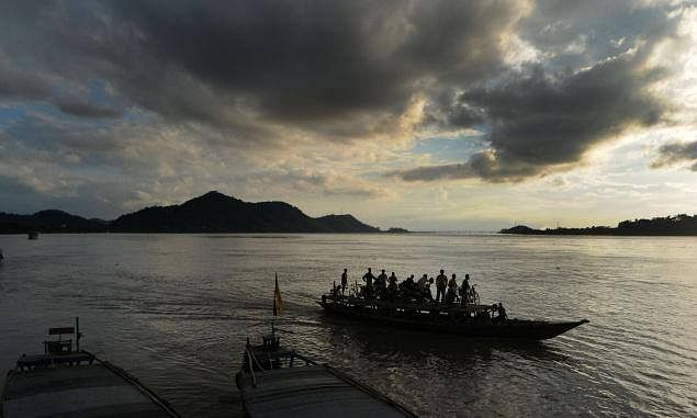 Assam: Water levels recede, ferry services on Brahmaputra resumed