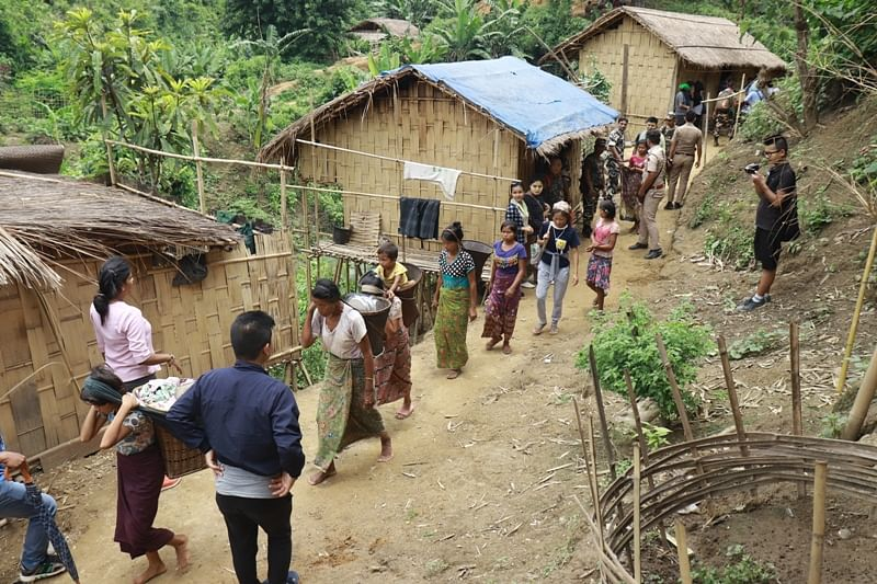 The Buddhist refugees from Myanmar's Rakhine state were sent back to their villages from south Mizoram's Lawngtlai district on July 2