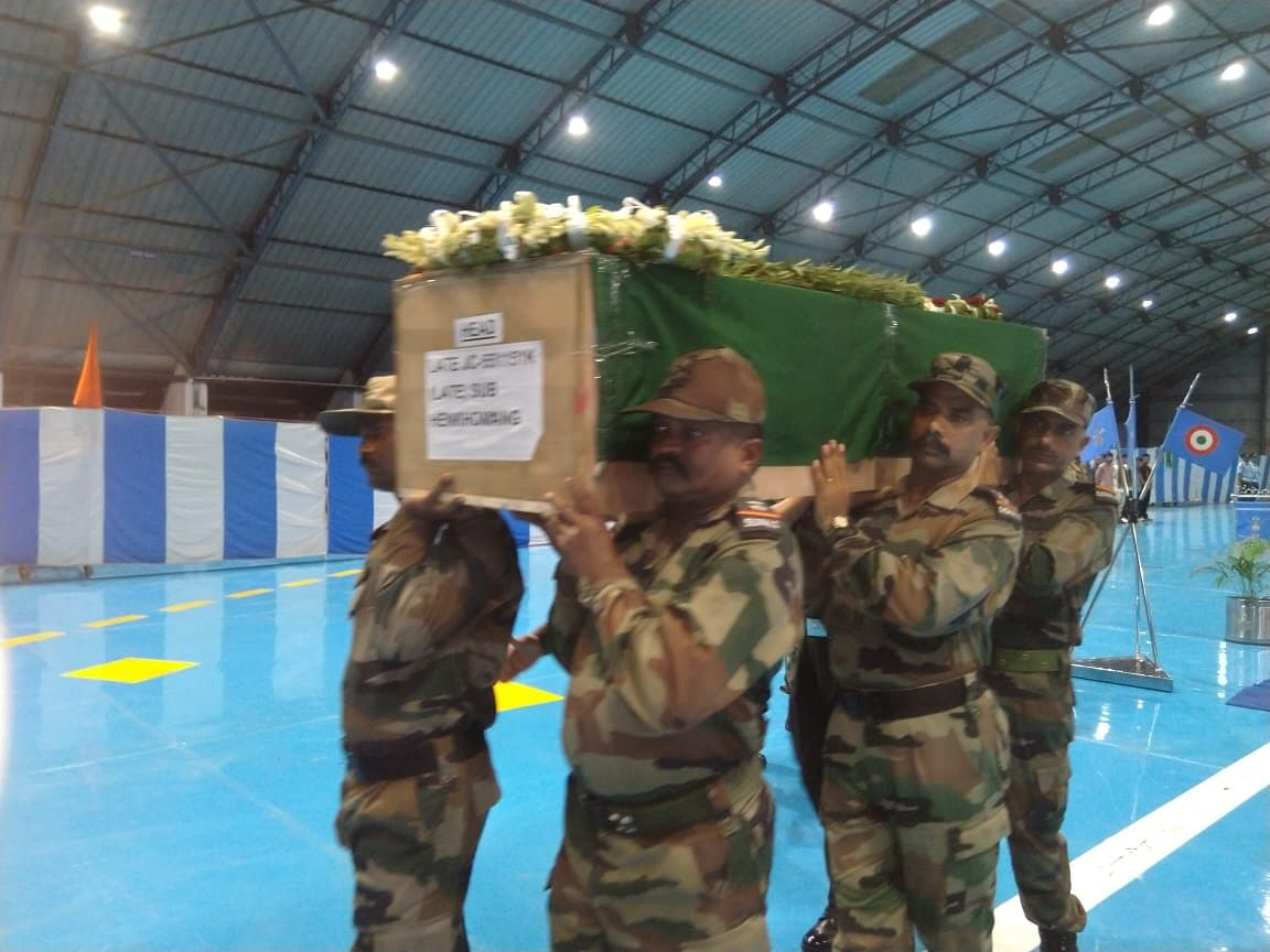 The three Junior Commissioned Officers (JCOs) of 4 Assam Regiment died in a mishap in Solan, Himachal Pradesh